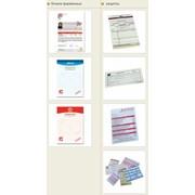 Бланки, рецепты, накладные, счета на самокопирующейся бумаге фото