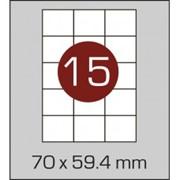 Этикетки самоклеящиеся 70х59,4 мм фото
