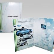 Размещение рекламных ВИДЕ роликов НА страницах БУМАЖНЫХ профильных и глянцевых журналов, в рекламных буклетах, рекламных брошюрах, рекламных проспектах, рекламных каталогах. Технология Video-in-Print® от компании Americhip . фото