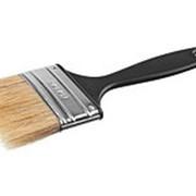 Кисть плоская, пластиковая ручка, светлая щетина, 63мм (Сибин), 01008-063 фото