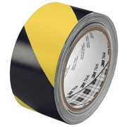 Лента маркировочная 3M, для разметки, 125 мкм, самоклеящаяся, 50 мм x 33 м Черно-желтый фото