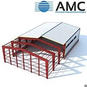 Строительство быстровозводимых зданий из стальных металлоконструкций. фото