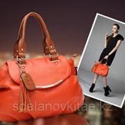 Модная женская сумка декорированная кисточкой, кожа, Vintage фото