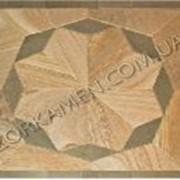 Орнамент из шлифованного природного камня песчаника для полов и тротуаров Клавир 5, код Ш74 фото