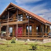Дом из оцилиндрованного бревна Жанна фото