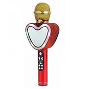 Беспроводной Bluetooth караоке микрофон Q5 Сердце (Красный) фото
