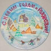 Сувенирные расписные тарелки фото
