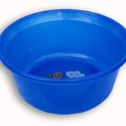 Таз пластмассовый синий фото