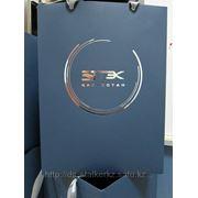 Пакет большой с логотипом компании фото
