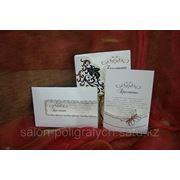 Изготовление открыток, приглашений, карточек рассадки фото
