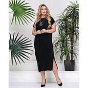 Стильное летнее платье с кулоном в комплекте (3 цвета) PY/-1026 - Черный фото