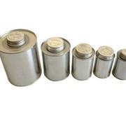 Банки металлические для химических продуктов. фото