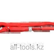Ключ трубный рычажный Зубр, изогнутые губки, цельнокованый, Сr-V, № 3, 2 Код: 27337-3 фото