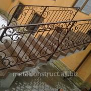 Лестницы входные с коваными элементами №5 фото