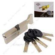 Секрет латунный Imperial СК90 (45/45) (лазер, ключ/поворот, никель) (5 ключей) (CK90 45/45 SN) №329595 фото