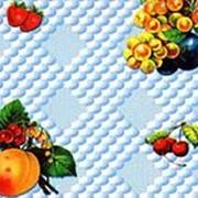"""Клеенка столовая на т/о арт.300-3 """"Лимоны"""", сер.голуб.отб., 1,3х25м фото"""