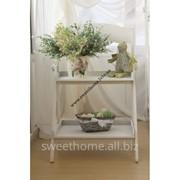 Деревянная подставка под цветы на 2 полки раскладная фото