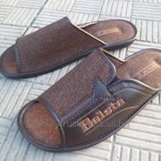 Тапки мужские летние кожаные фото