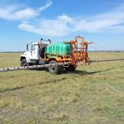 Химическая обработка полей наземным транспортом фото