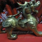 Статуэтка Пи Яо индийское божество из бронзы фото