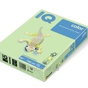 Бумага цветная iq color A4, 80г/м2, mg28-зеленый 500л. MG28-80 фото