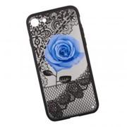 Защитная крышка «LP» для iPhone SE 2/8/7 Роза голубая (европакет) фото