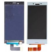 Дисплей для Sony F5321 (X Compact) в сборе с тачскрином (белый) фото