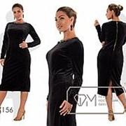 Стильное женское платье чёрное миди (3 цвета) PY/-063 фото