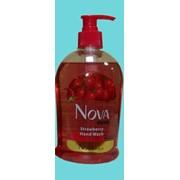 Мыло жидкое для рук NOVA Strawberry 500 мл. фото