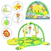 Коврик для младенца 898-12 B/0228-1 R мягкая черепаха дуги с подвесками фото