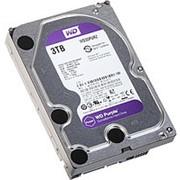 Жесткий диск HDD WD SATA3 3Tb Purple Video IntelliPower 64Mb (WD30PURZ) фото