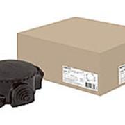 Коробка электромонтажная КЭМ 1-10-4М ОП D72 мм IP44, 4-х рожк. (карболит) TDM фото