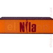 Брусок шлифовочный Nila (оранжевый) 100x100x100 фото