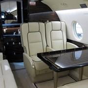 Пассажирские версии салона самолетов.Gulfstream 200 (2009 г, 10 мест). фото
