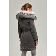 Парка женская зимняя джинсовая с натуральным мехом П-31 ех фото