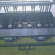 Вибростанок шлакоблочный ВСШ-6П шести блочный с двумя полублоками фото