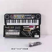 Детский пианино синтезатор MQ-3737 USB, 37 клавиши. Микрофон. фото