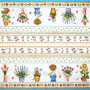 Салфетка для декупажа Цветы в горшках фото