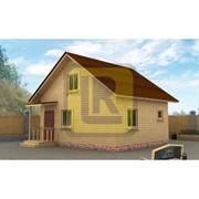 Каркасно-щитовой дом Проект №9 7х6 с крыльцом фото