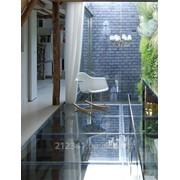 Прозрачный стеклянный пол для виллы арт 4507 фото