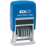 Нумератор мини автомат 3,8мм, 6 разрядов, пластик фото