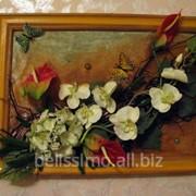 Флористическое панно, коллаж в интерьер фото