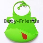 Слюнявчик пластиковый Жабка (зеленый) фото