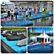Понтоны для выставок на воде, причалы, пирсы для катеров, лодок, скутеров, гидроциклов, искусственные плоты для водных мероприятий фото