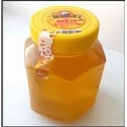 Цветочный мед ПЭТ - банка Шестигранник 0,5л фото