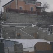 Опорные стены, строительство фото