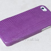 Кожаная защитная накладка iPhone 5 Iguana Violet фото