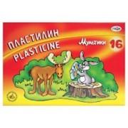 Пластилин МУЛЬТИКИ со стеком, 16 цв., 320 г (ГАММА) фото