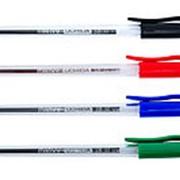 Ручка шариковая одноразовая MARVY прозрачный корпус, синяя фото