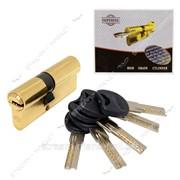 Секрет латунный Imperial С70 (со смещением 30/40) (лазер, ключ/ключ, золото) (5 ключей) (C70 30/40РВ) №329442 фото